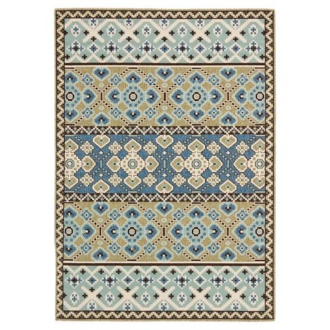 Safavieh Almira Indoor Outdoor Rug Green Blue 6x9 Home Rugs