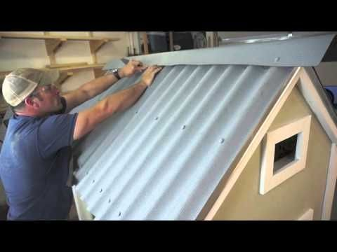 Installing Ondura Corrugated Roofing Sheets On A Chicken Coop Corrugated Roofing Corrugated Metal Roof Chicken Coop