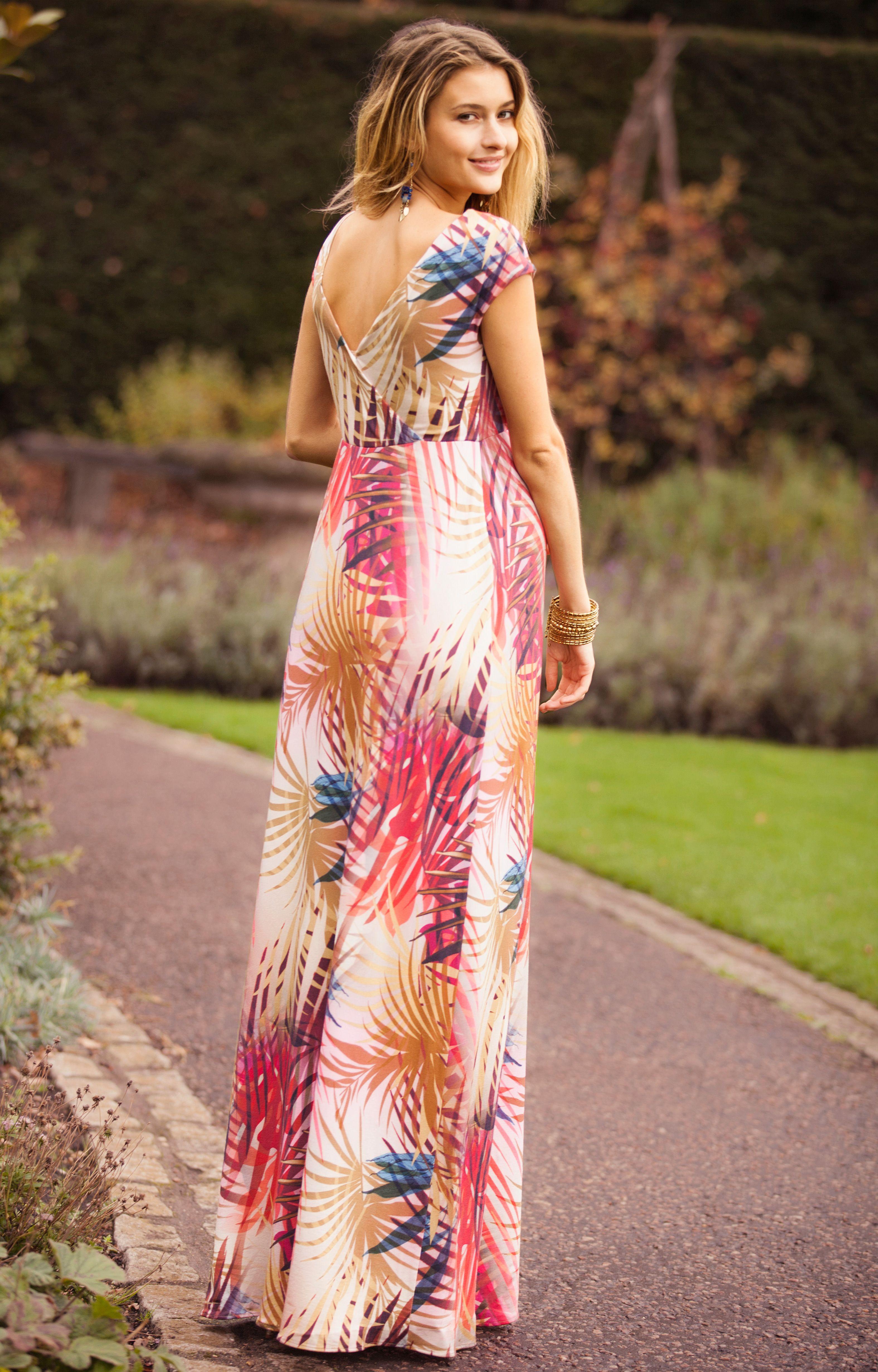 359264e9430 Alana Maternity Maxi Dress Hot Tropics by Tiffany Rose Maternity Wear