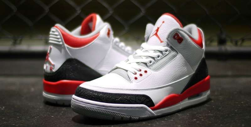 2013 Air Jordan 3 Fire Red On Feet Sneaker Review
