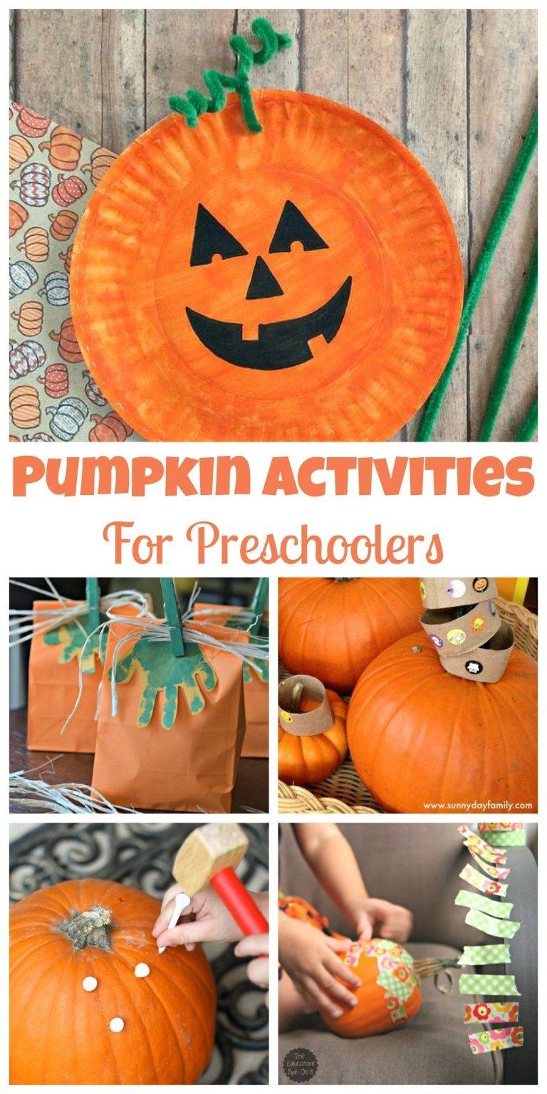 Easy Pumpkin Activities for Preschoolers - Happy Home Fairy