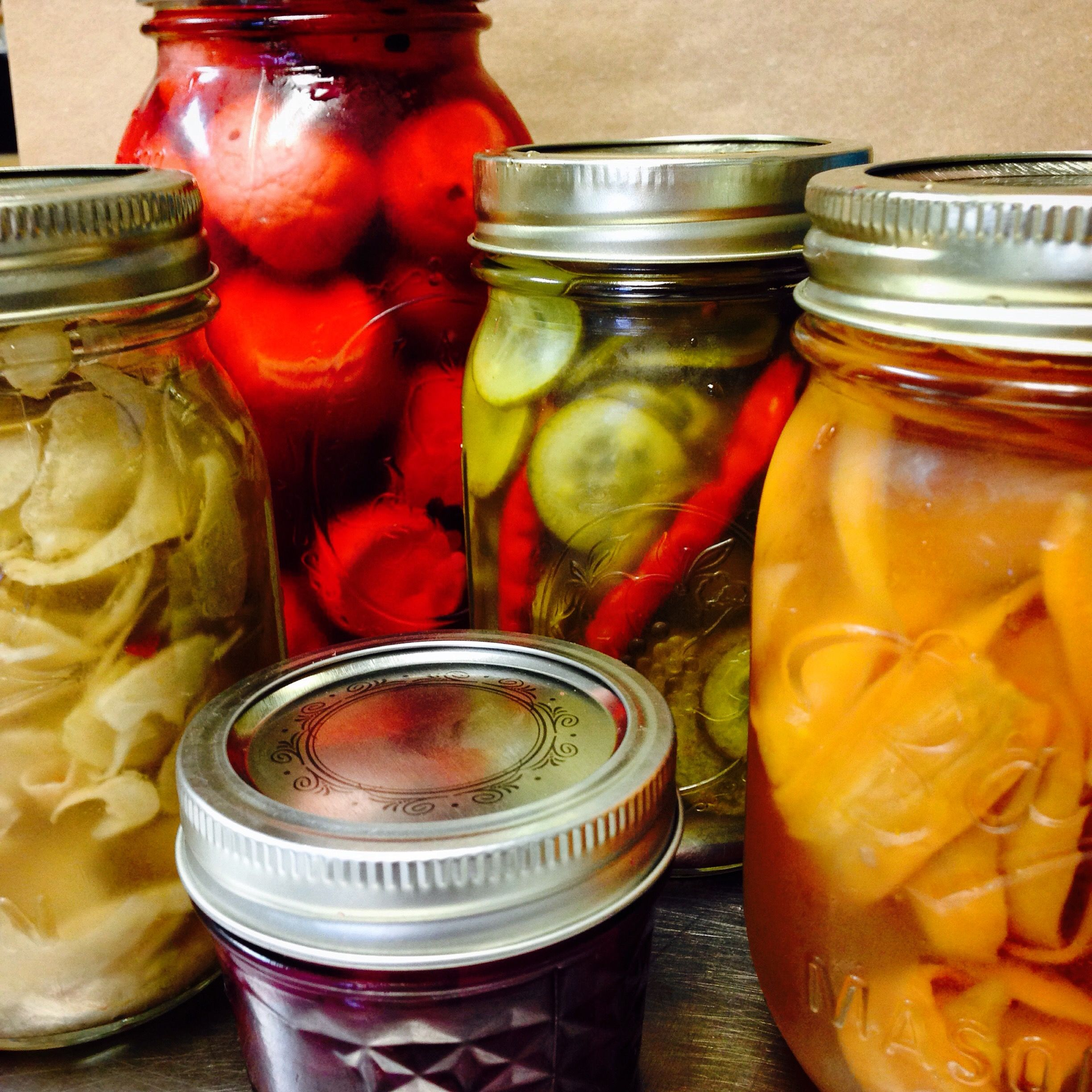 A Few House Made Pickles For An Upcoming Bbq Event Catering Wedding Catering Catering