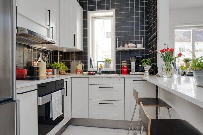 Styl Nowoczesny W Mieszkaniu Zdjecia Pomysly Aranzacje Kitchen Design Small Small Apartment Kitchen Minimalist Kitchen Design