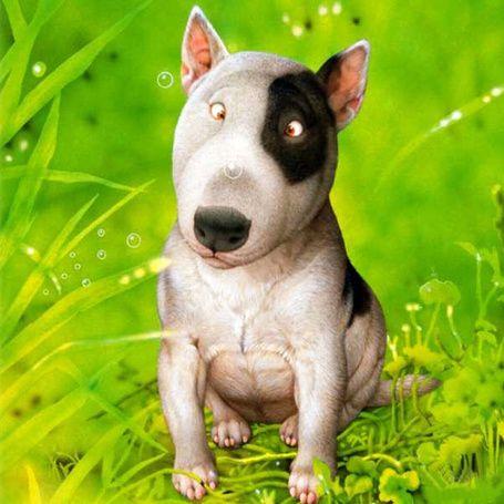 Поиск, с цветом 10079232 | Собачье искусство, Собака ...