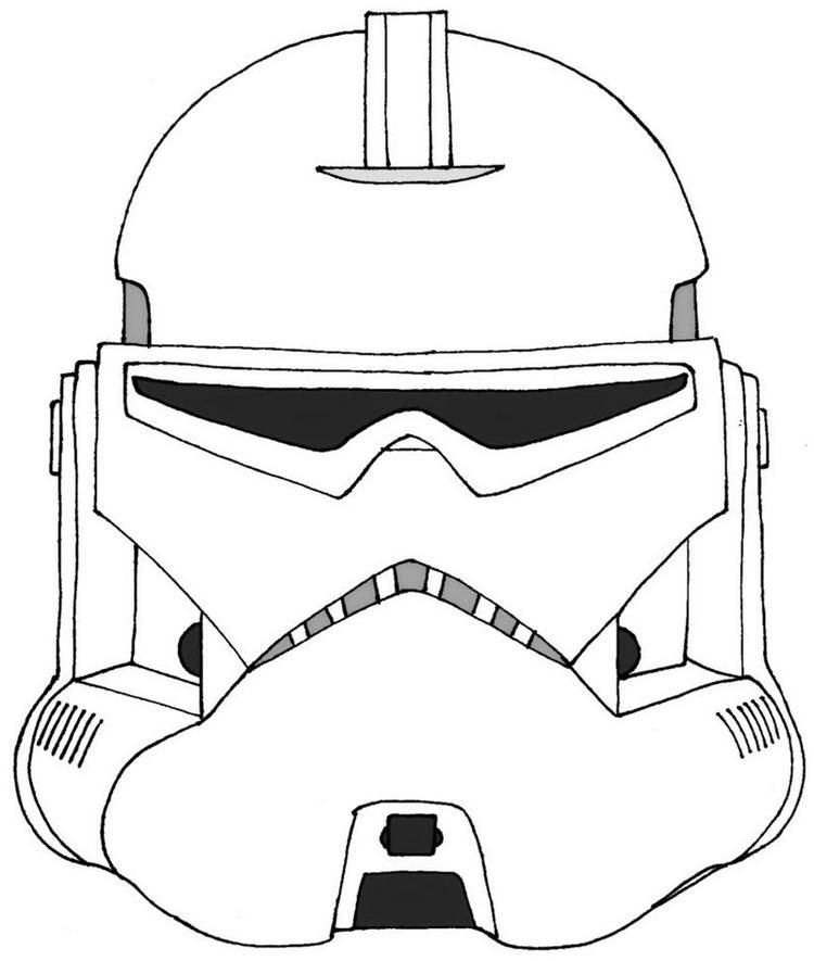 Stormtrooper Star Wars Helmet Coloring Page Star Wars Helmet