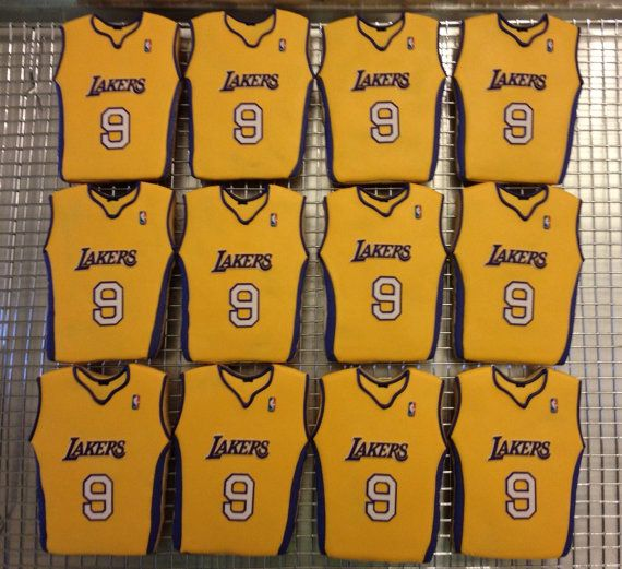 the latest 2a01f ebae0 LA Lakers Basketball Jersey Cookies by ruthiescookies on ...