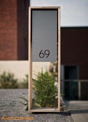 Cool House Number Signs With Images Exterior Signage Signage