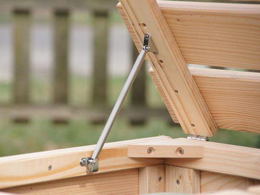 Mulltonnenbox Aus Holz Deckelhalter Garten Trash Bins Pallet