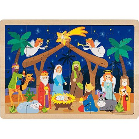 Toys In 2019 Christmas Jigsaw Puzzles Kids Nativity Set