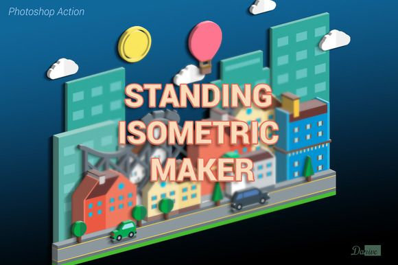 Standing Isometric Maker by Danive Studio on Creative Market