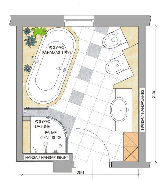 280 325 Wa Du Wt Wc Bid Bad Grundriss Planer Badezimmer Planen