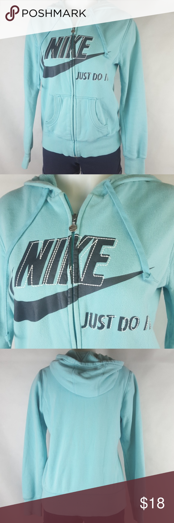 Nike Sportswear Medium 8 10 Sweatshirt Hoodie Beautiful Graphics And Embroidery Color Is A Unique Aqua Drawsti Sweatshirts Hoodie Nike Sportswear Sweatshirts [ 1740 x 580 Pixel ]