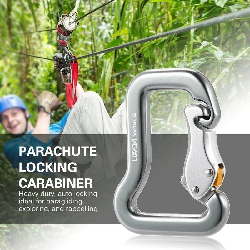 Outdoor Rock Climbing Master Hook Paraglider Parachute Clip Locking Carabiner