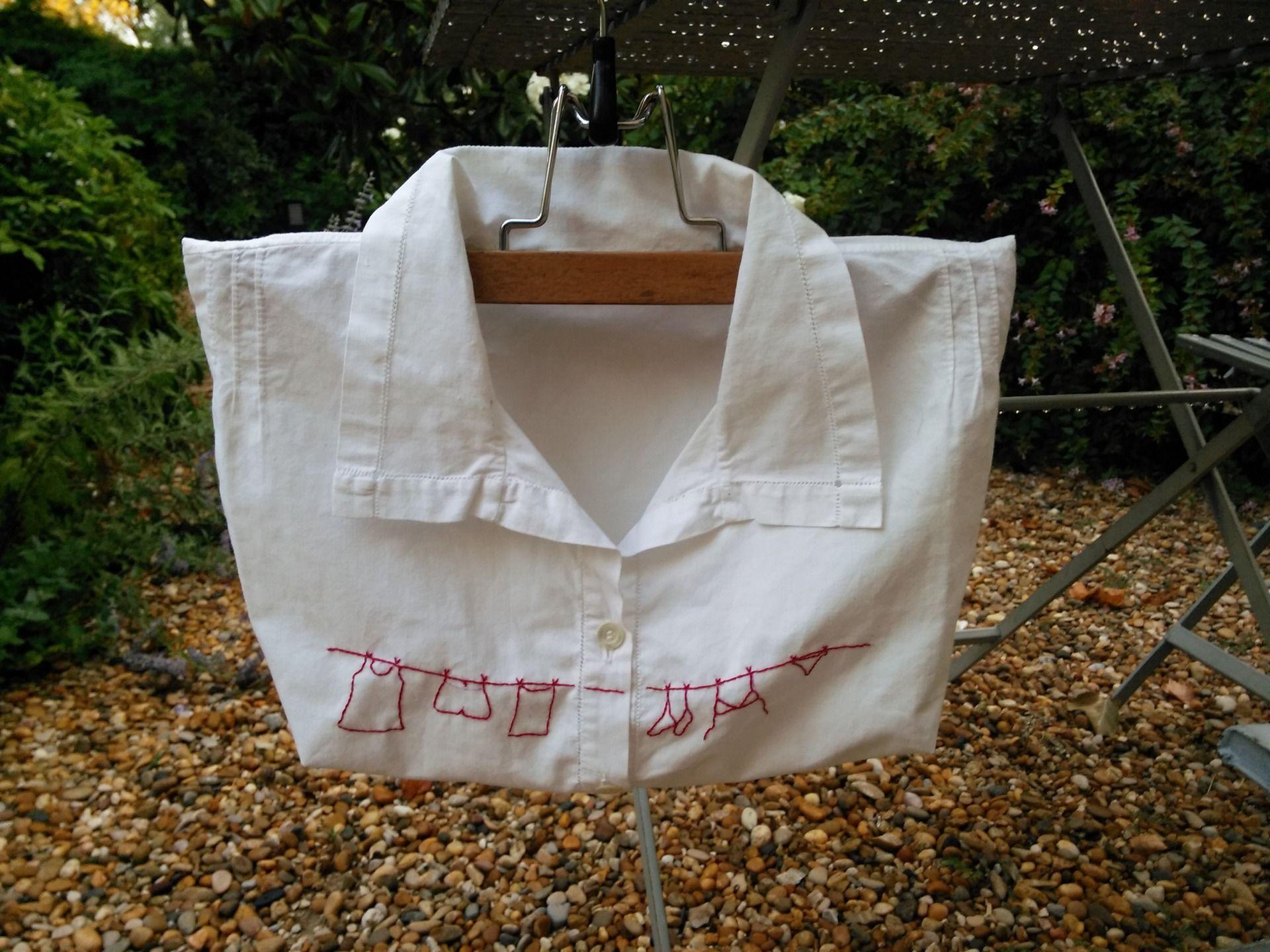 """sac à pinces à linge """"la chemise de grand père"""" : accessoires de"""