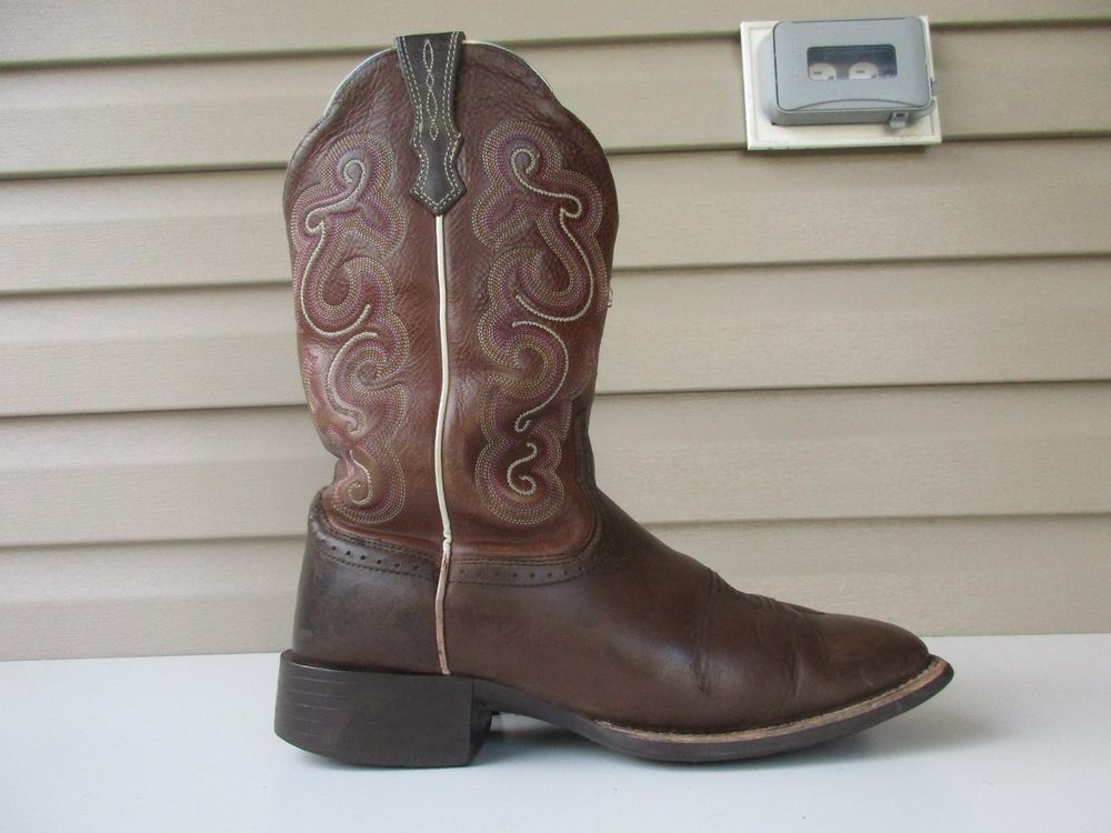 ab365866c513 ARIAT Women s Quickdraw Square Toe Western Boot size 9 B Brown 10006304   Ariat  CowboyWestern