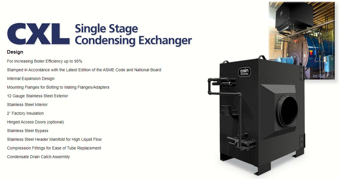 Cain Industries Cxl Product Line Boiler Efficiency Steam Boiler Steam Generator
