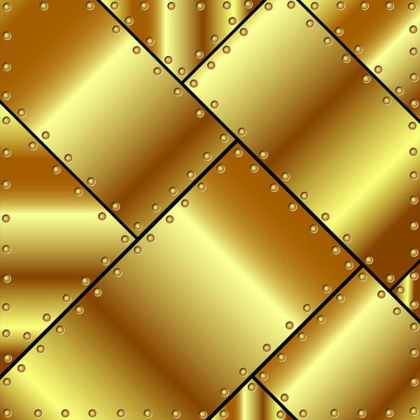 EPS Datei Stitching Metall Goldgrund Vektor Gratisdownload