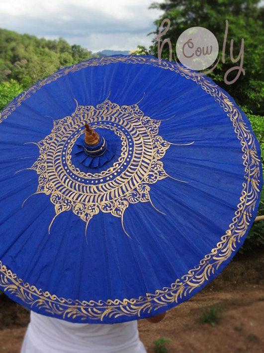 Hand Painted Blue Waterproof Parasol Blue Umbrella Blue Parasol Umbrella Parasol Wedding Parasol Waterproof Parasol Parasol Umbrella In 2020 Sonnenschirm Regenschirme Und Schirm