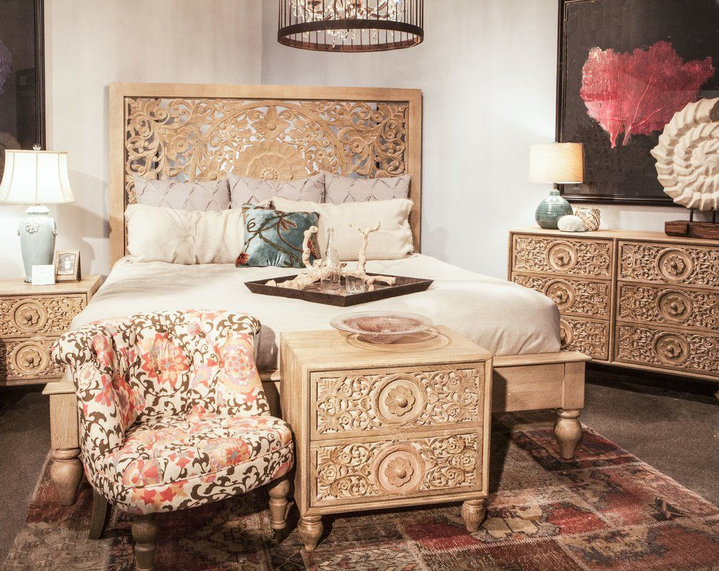 Maderia King Platform Bed Furniture, King platform bed, Bed