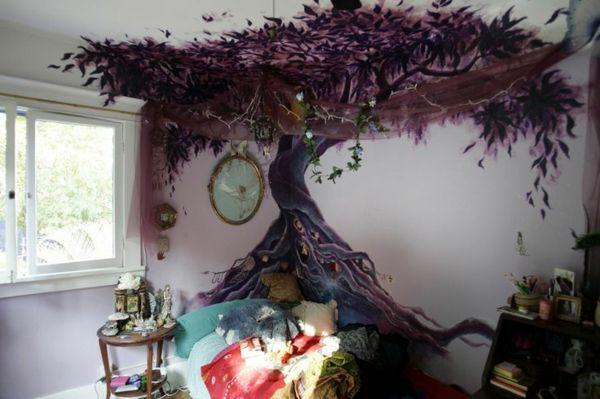 kinderzimmer deko wandgestaltung m rchenbaum. Black Bedroom Furniture Sets. Home Design Ideas