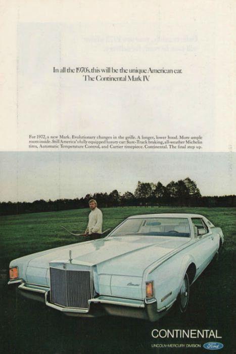 "1974 Lincoln Continental MARK IV Gold New Standard Original Print Ad 8.5 x 11/"""