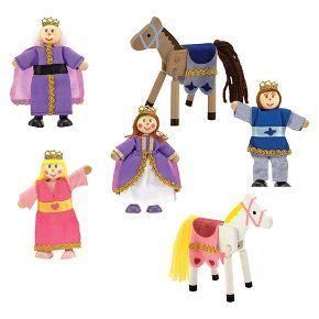 Melissa & Doug® Royal Family Wooden Doll Set