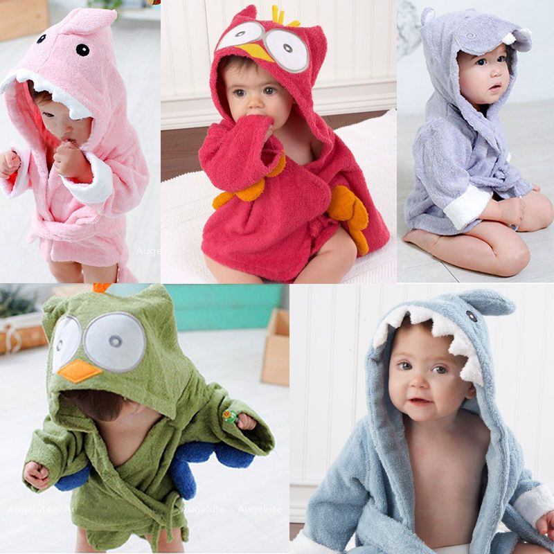 Stylish Baby Kid Child Hooded Animal Design Bath Towel Terry Wrap