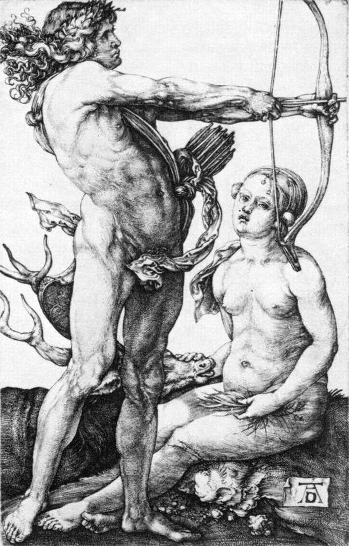 Apollo and Diana by DURER, Albrecht #art