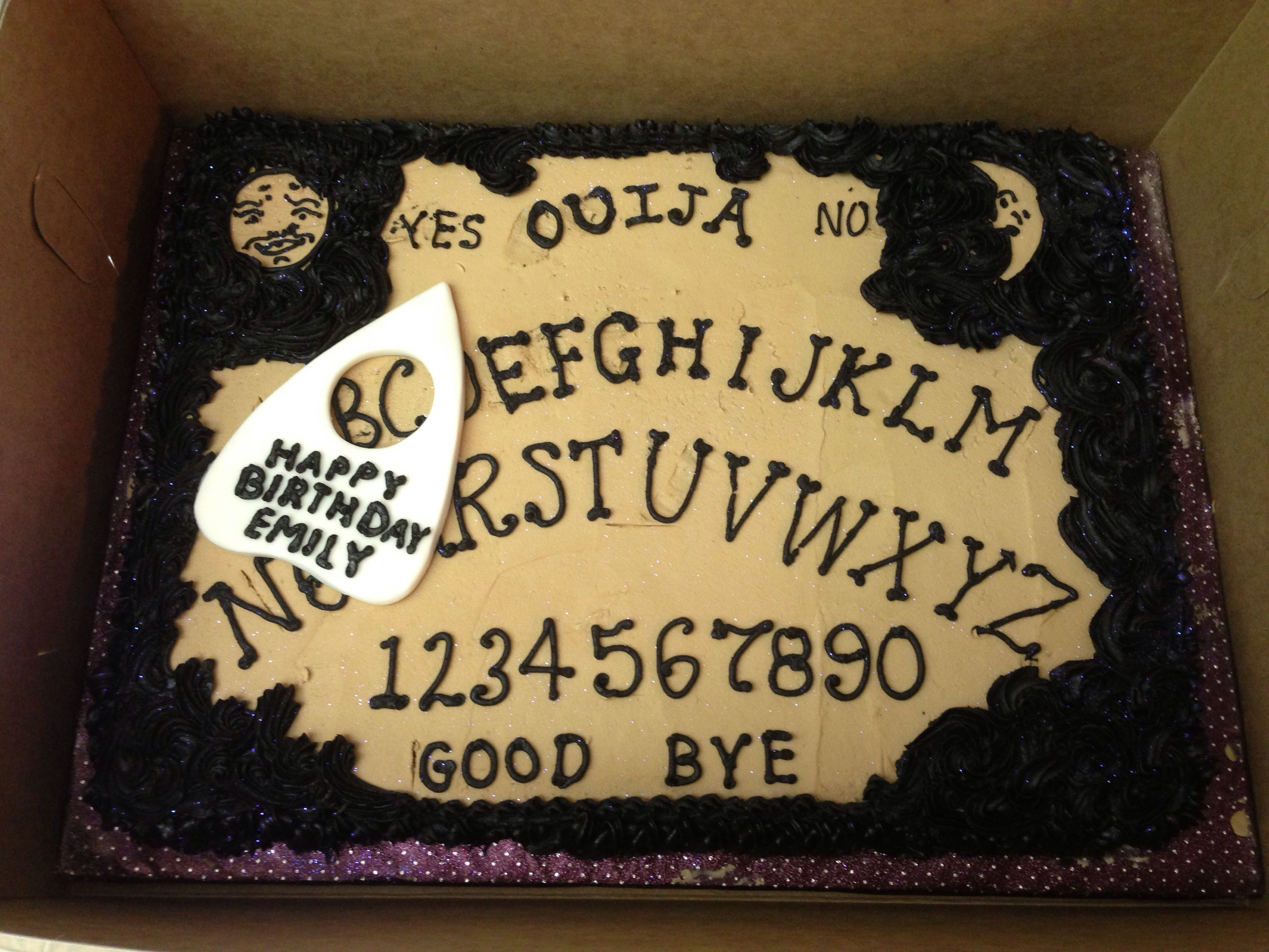 Ouija Board Cookie Cake