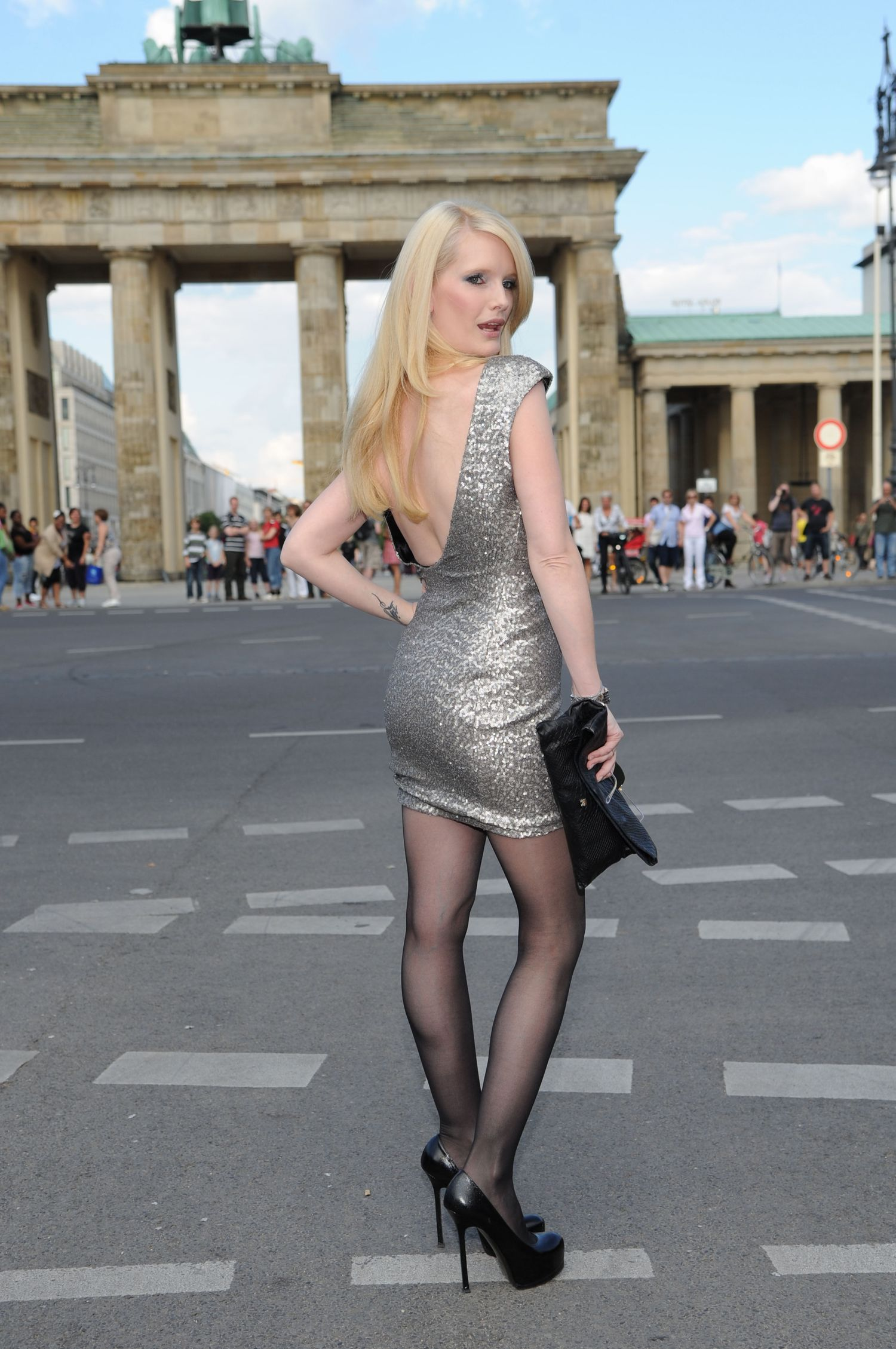 Mirja Du Mont in pantyhose - More pictures here: http