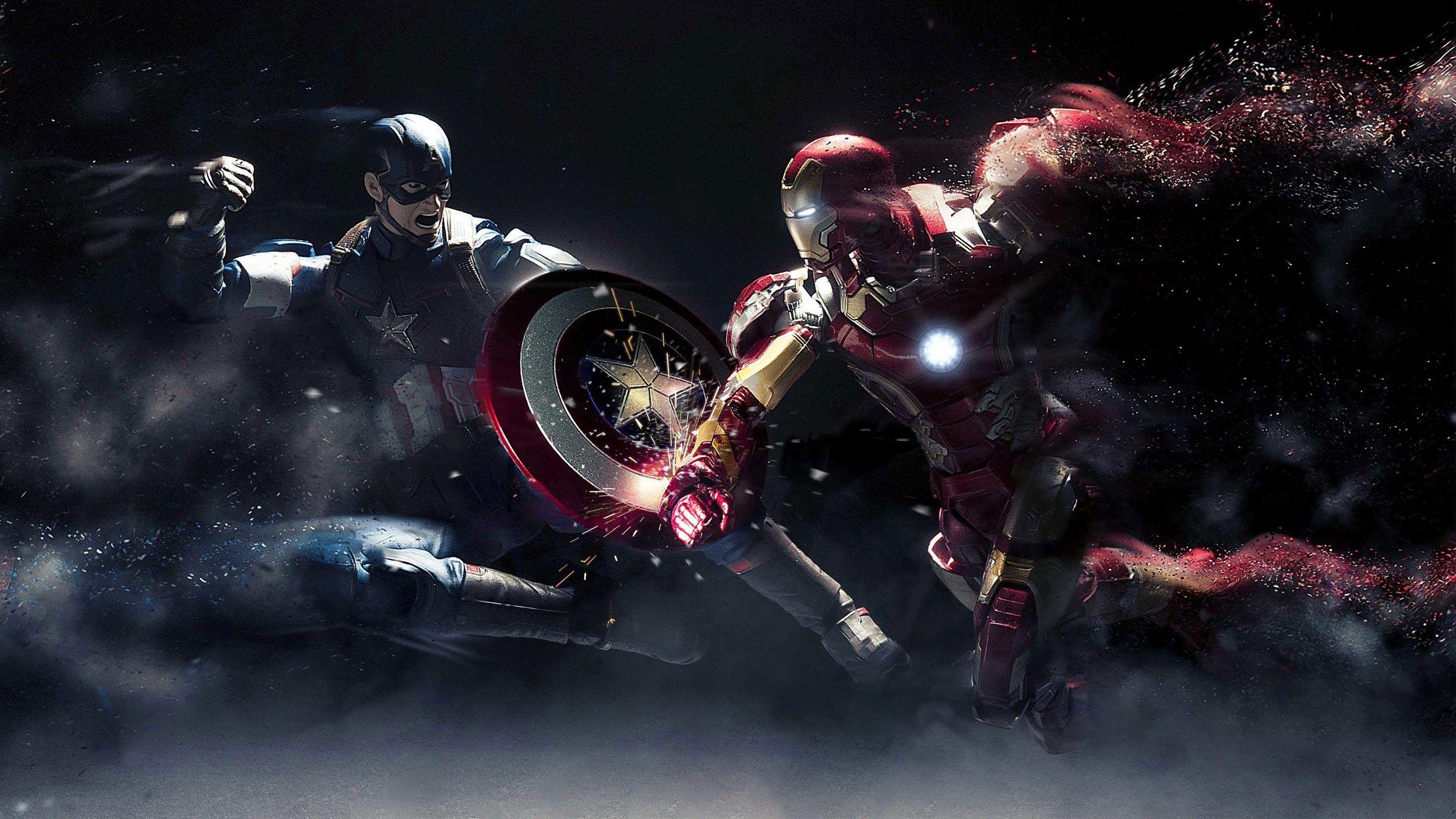 2560x1440 Free Desktop Backgrounds For Captain America Civil War Wallpaper Iphone Seni Gambar Lucu