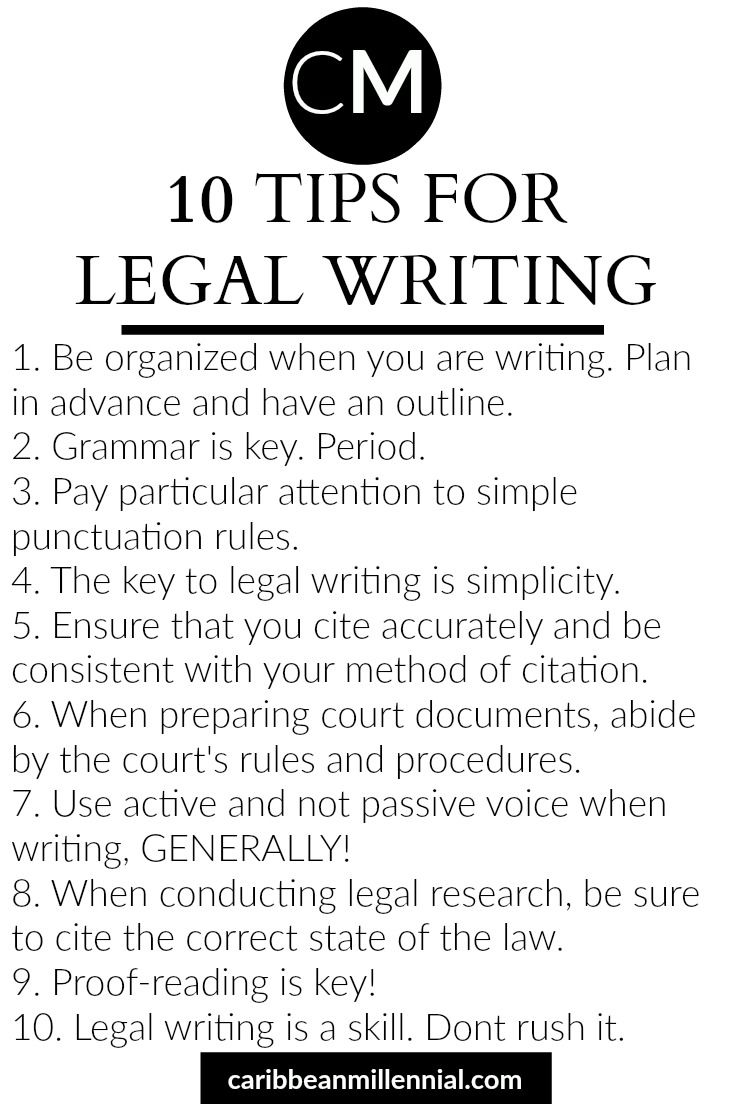 10 tips to improve your legal writing | Legal writing | Law school ...