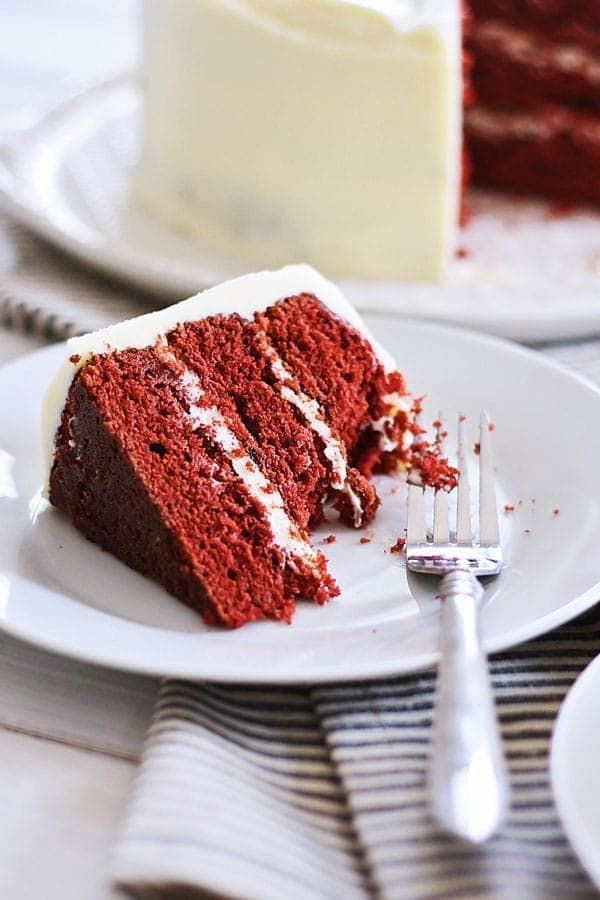 Red Velvet Cake - delicious cake loaded with cream cheese frosting, perfect for anytime of the year but especially festive for the holidays season. Get the easy recipe   rasamalaysia.com