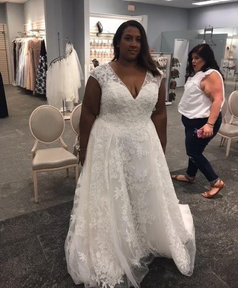 This cap sleeve plus size wedding dress with v-neck line can be made as shown or with any changes.  custom #weddingdresses are our specialty.  We also make #replicas of couture designer gowns too for brides who can not afford the original.  Get pricign and details on how it all works when you visit our main website at www.dariuscordell.com