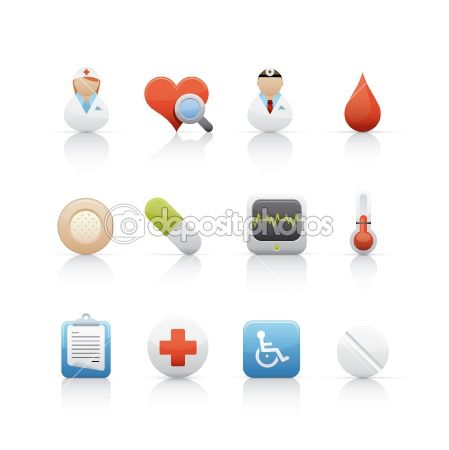 Icon Set - Hospital and Medical Centre by pixelstudiomvd - Stock Photo
