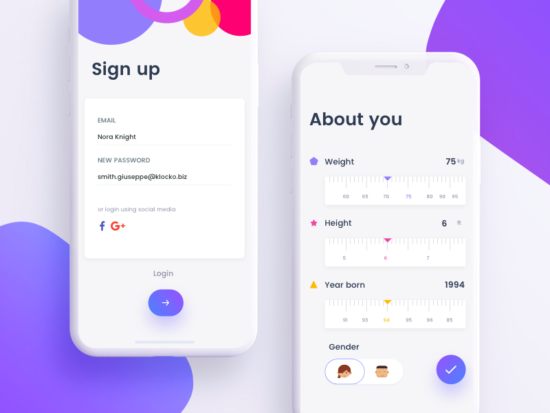Signup And Forms App Interface Design Android App Design Mobile App Design