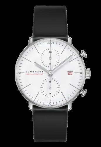 max bill Chronoscope 100 Jahre Bauhaus Reloj, Piel de