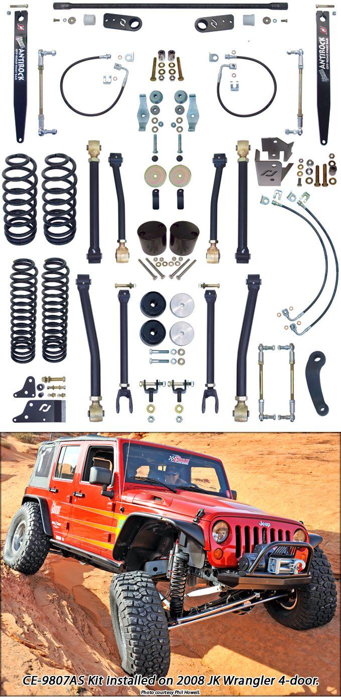 Currie 4 Lift Kit For Jeep Jk 4lowparts Jeep Jk Wrangler Jk Jeep Lift Kits