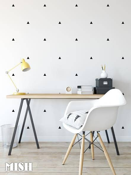 Triangle Wall Decal Set black - Triangle Decor Decals Wall Decor ...