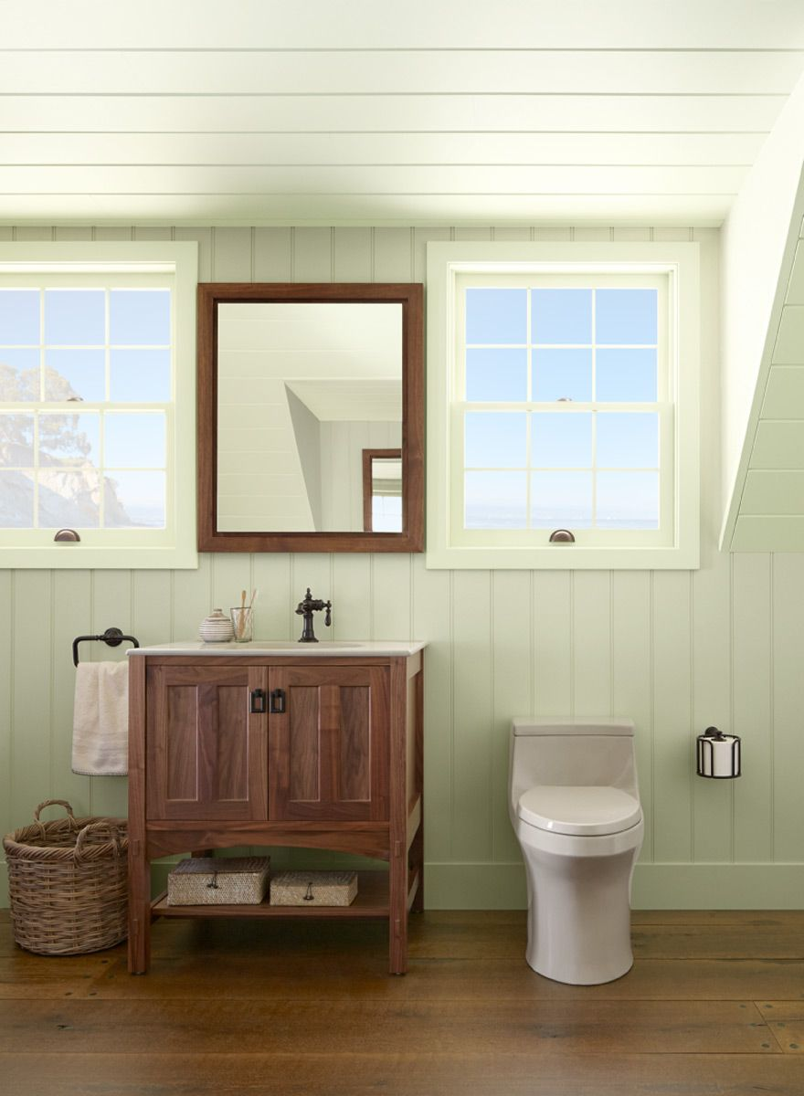 Bathroom color ideas green - Ceiling Detail For Walk Up Attic Green Bathroom Ideas Natural State Tranquil Bathroom