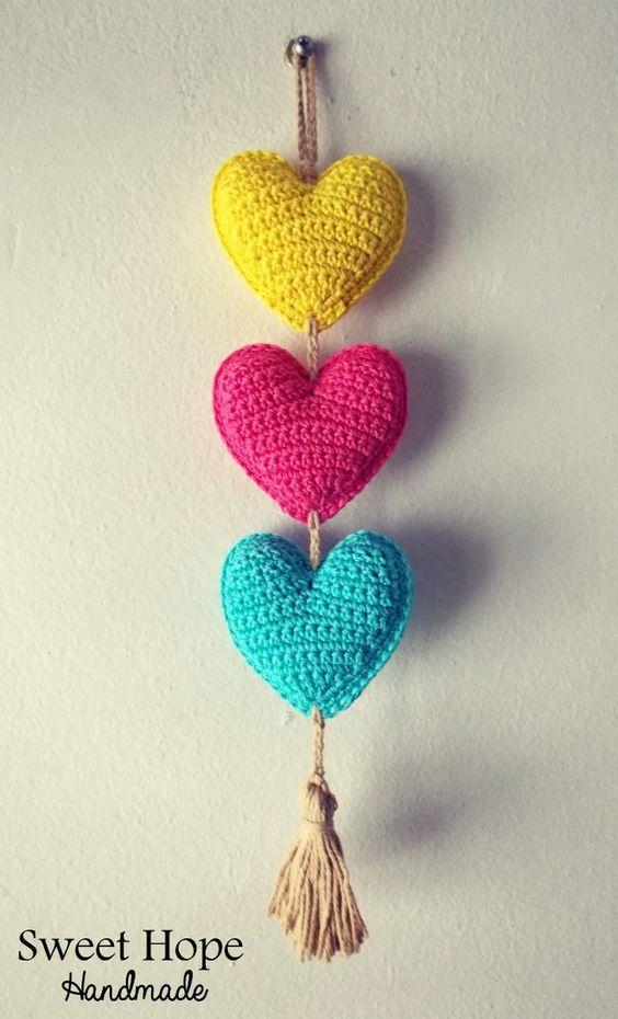 Resultado de imagen para colgantes para cortinas de corazones ...