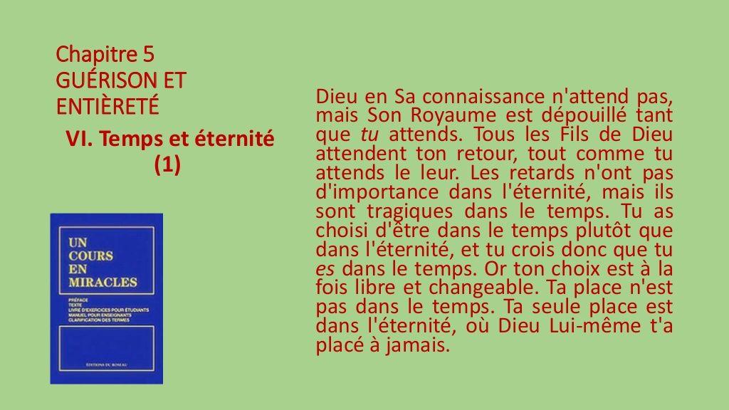 Section VI.- Temps et éternité by Pierrot Caron via slideshare