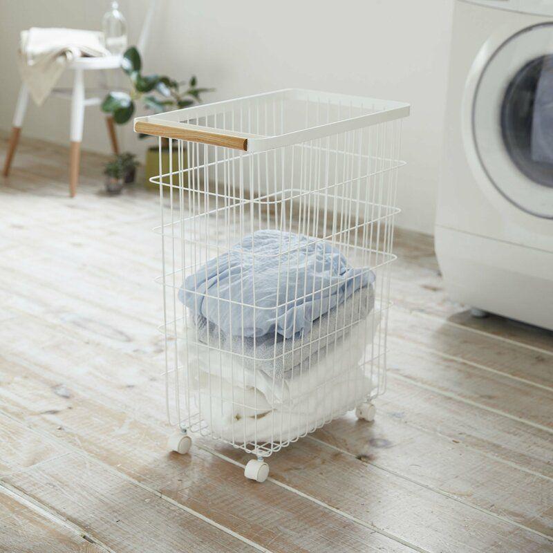 Tosca Slim Rolling Laundry Basket In 2020 Rolling Laundry Basket