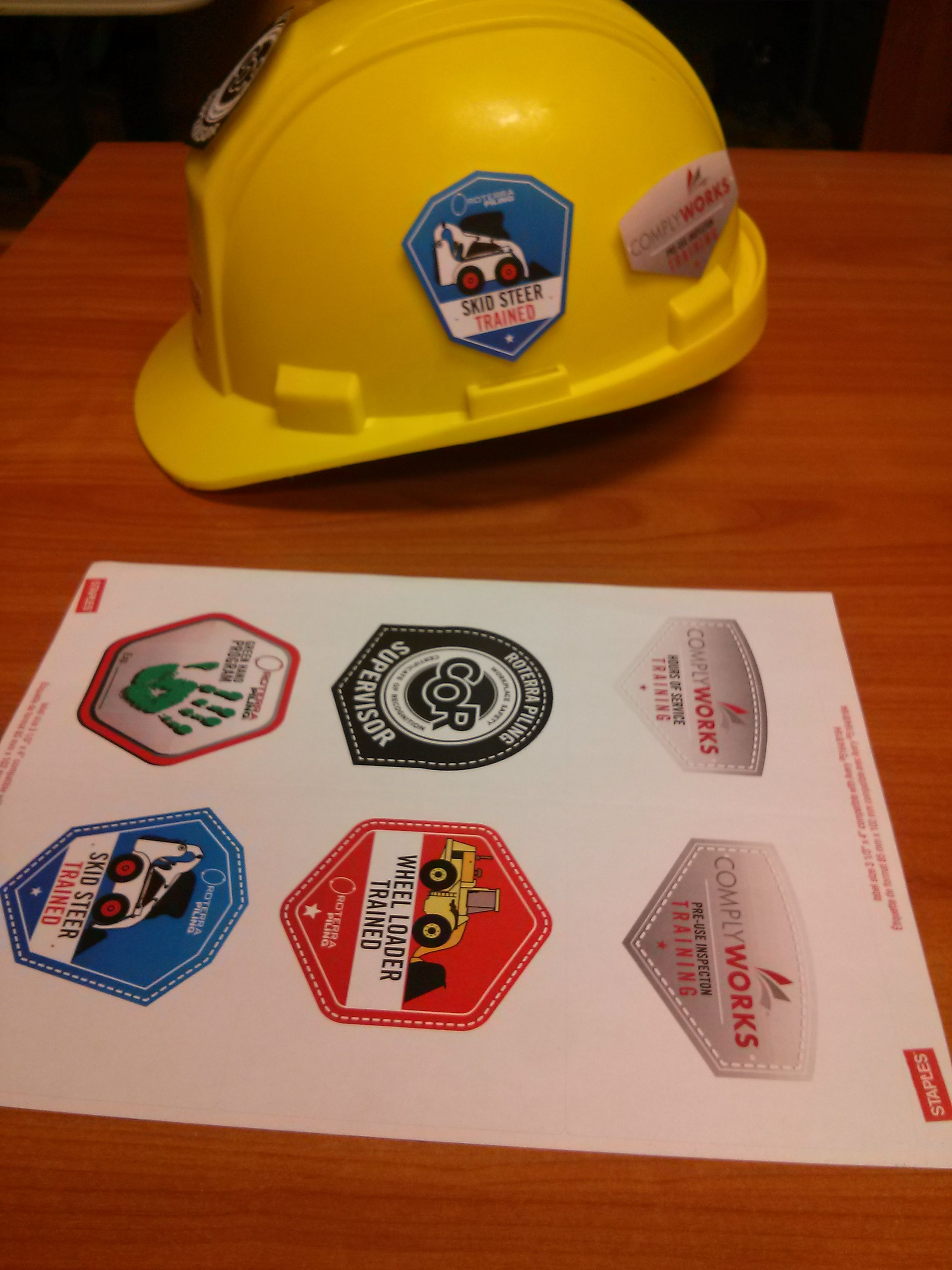 how to make hard hat stickers for your company using regular label