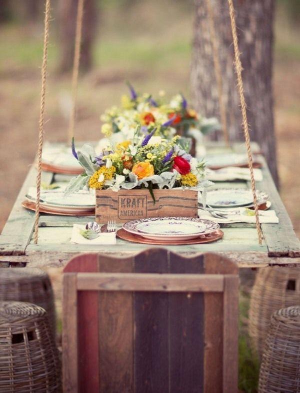 Wunderbar Festliche Dekoration Ideen Herbst Garten Tisch Set