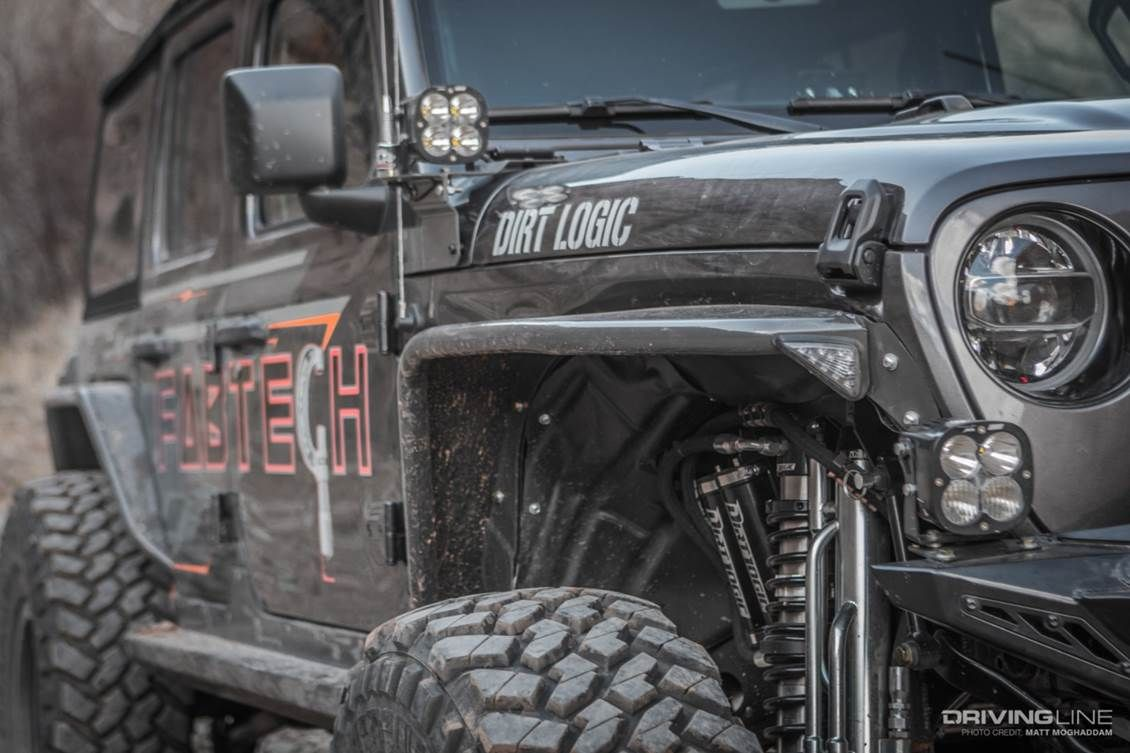 Fabtech Jeep Jl Equipped With A 5 Crawler Lift Kit And Dirt Logic