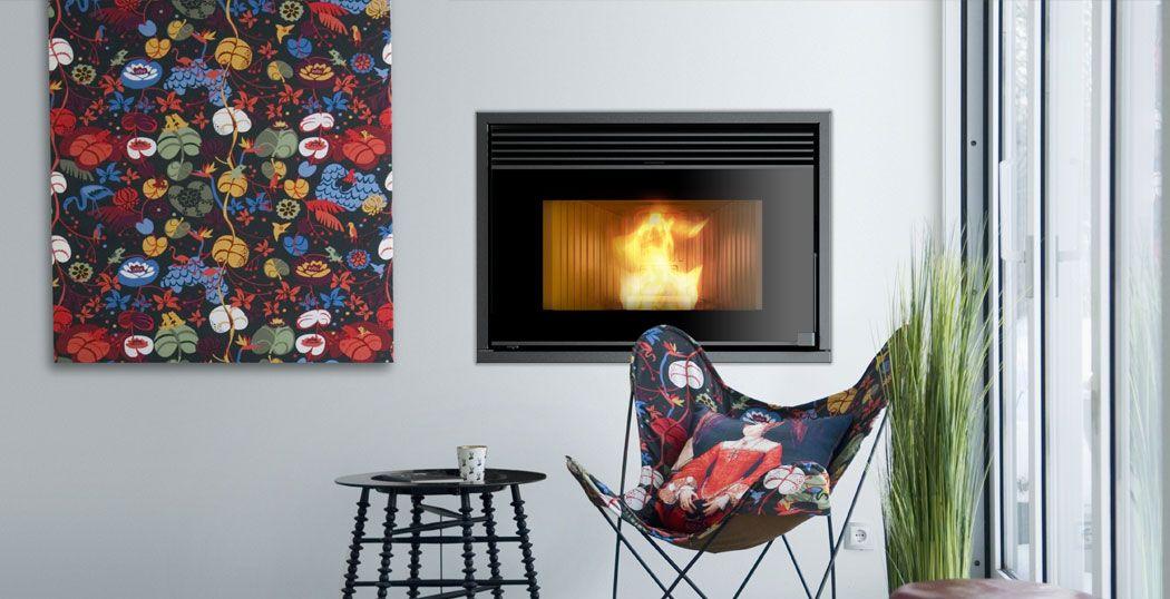 Rcv 1000 Ducted Insert Wood Pellet Stove Pellet Stove Wood Pellet Stoves Fireplace