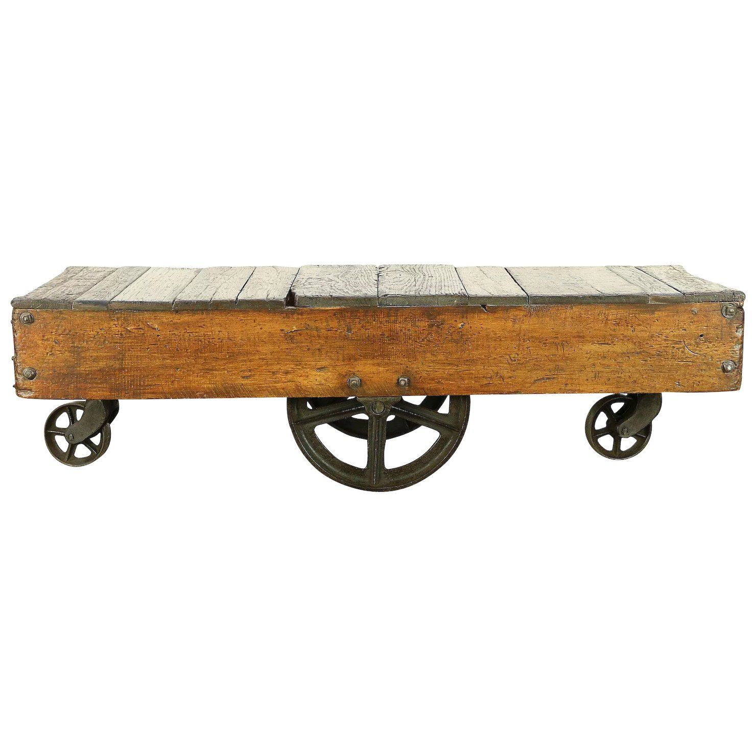Industrial Salvage Antique Cart Or Trolley Iron Wheels Coffee Table 30303 Coffee Table Antiques Furniture Factory [ 1480 x 1480 Pixel ]