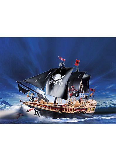 ausmalbilder playmobil piratenschiff  playmobil
