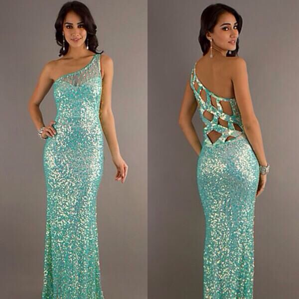 9271b258 Aqua blue sparkles prom dress | Prom | Prom dresses, Prom dresses ...